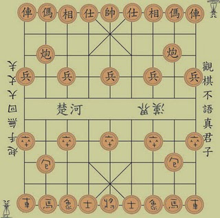 basics of xq chessboard with Chinese inscriptions